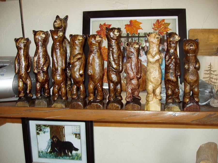 Bears Sculpture - Bear Tribe by William Luke