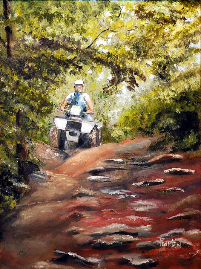 Bear Wallow Painting - Bear Wallow Rider by Phil Burton