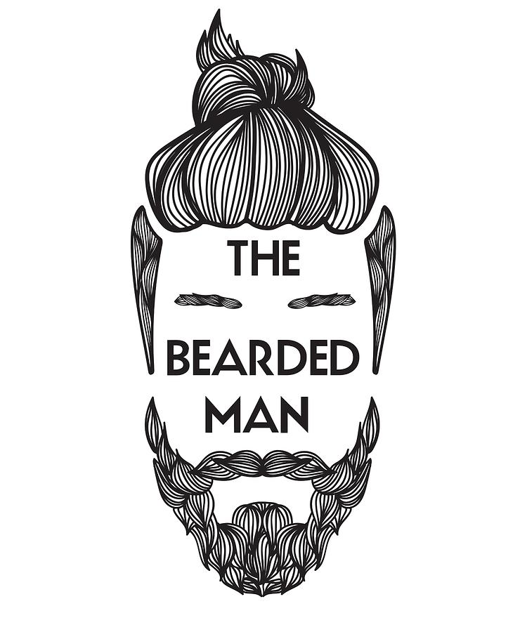 Bearded Man With Man Bun Beard Lover