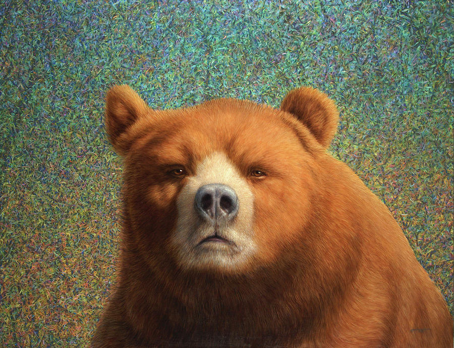 Bear Painting - Bearish by James W Johnson