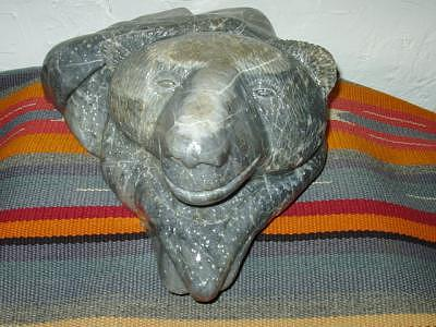 Bearly Keeping My Head Above Water Sculpture by William Luke