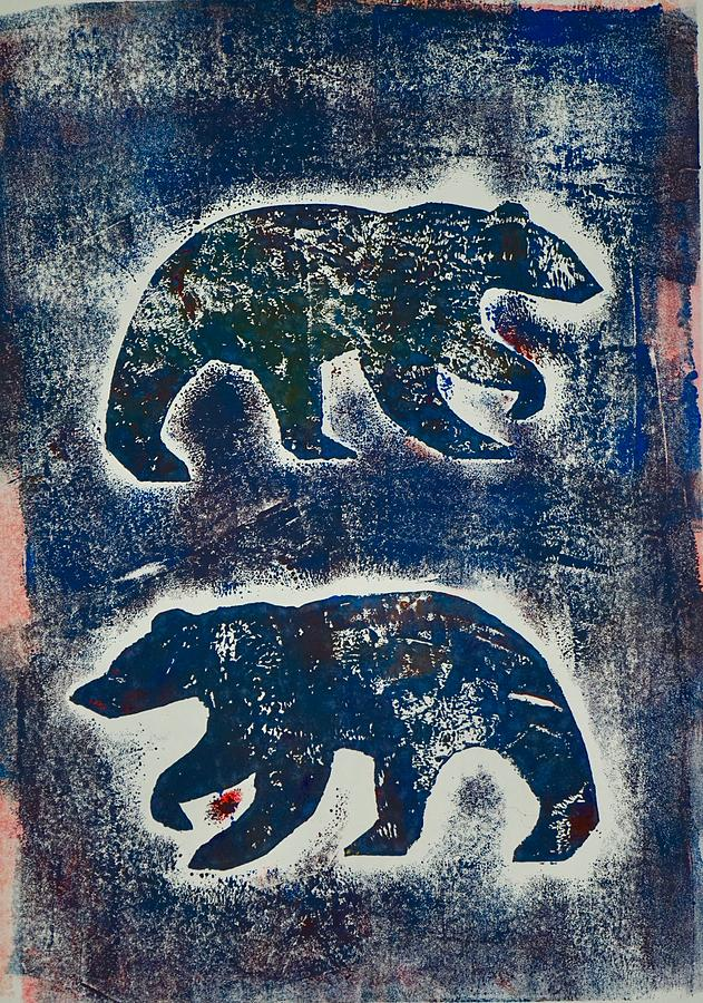 Bears in blue  by Corina Stupu Thomas