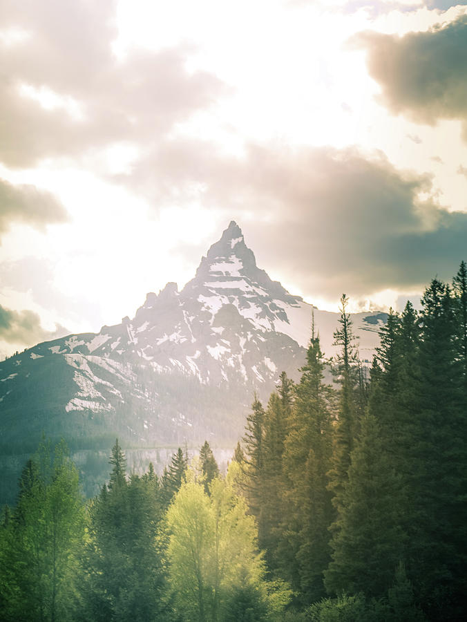 Beartooth Mountain Peak In Morning Light by Dan Sproul