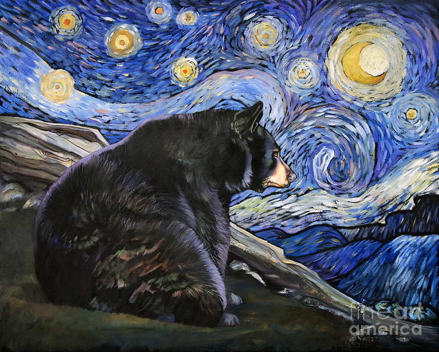 Beary Starry Nights by J W Baker