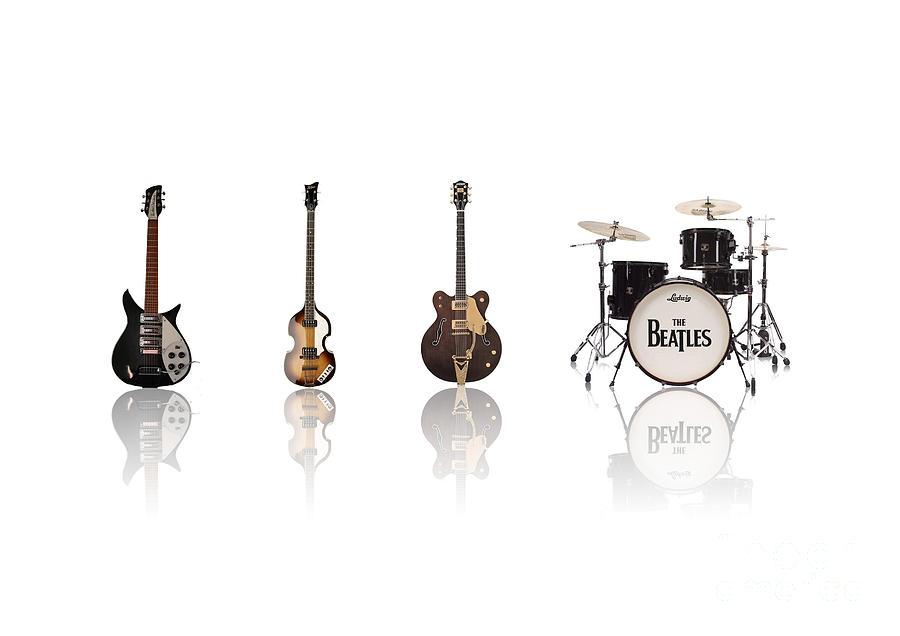 The Beatles Digital Art - Beat Of Beatles by Six Artist