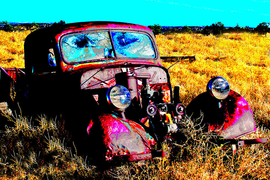 Old Car Pyrography - Beatle Juice by Kurt Gustafson