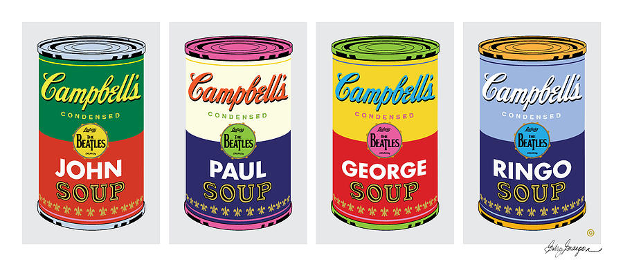 Beatle Soup Cans by Gary Grayson