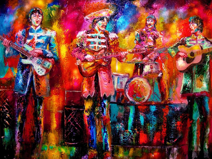 Beatles Painting - Beatles Hello Goodbye by Leland Castro