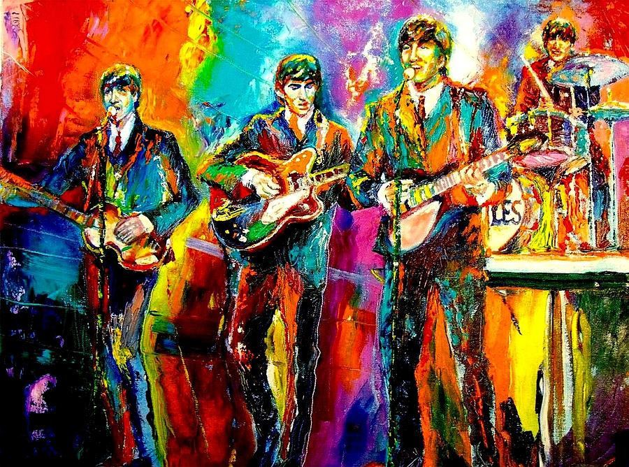 Beatles Painting By Leland Castro