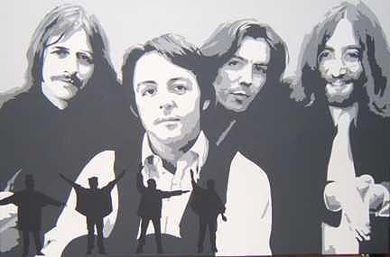 Music Painting - Beatles by Michael James Toomy