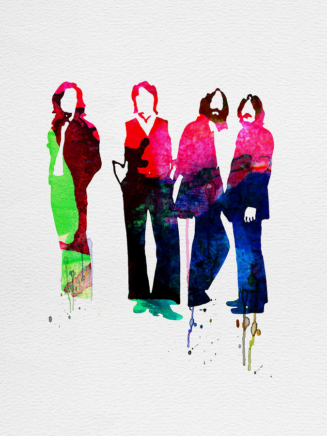 Beatles Painting - Beatles Watercolor by Naxart Studio