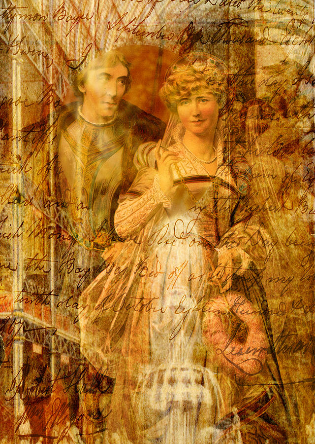 Beatrice Digital Art - Beatrice and Benedick by Sarah Vernon