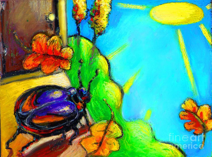 Beetle Painting - Beattle by Angelina Marino