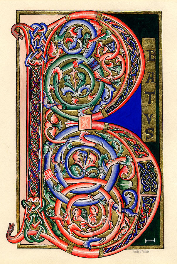 Celt Painting - Beatus by Judy Dodds