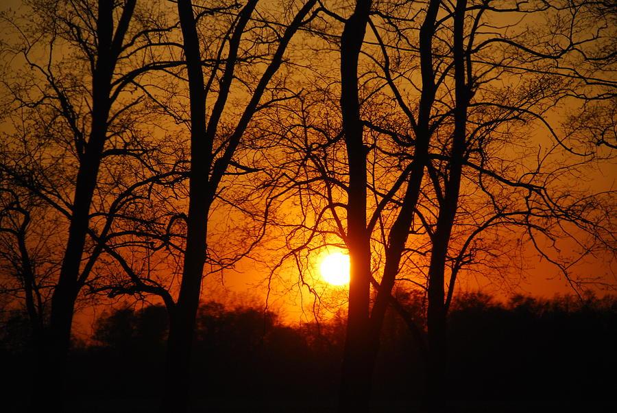 Sunset Photograph - Beauatiful Red Sunset by Wanda Jesfield