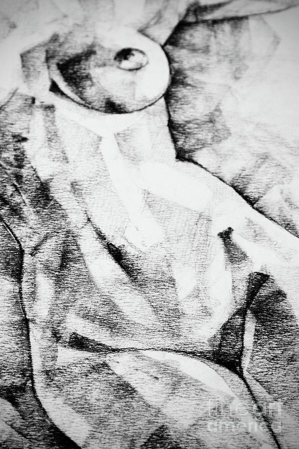 Drawing Drawing - Beautiful Abstract Woman Body Drawing by Dimitar Hristov