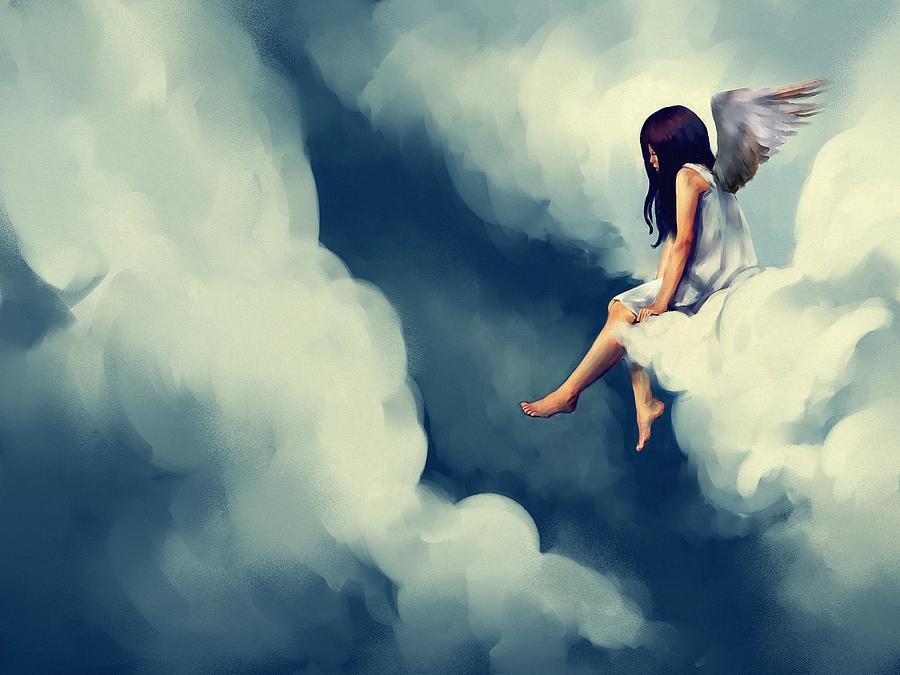 Картинки ангелов на облаках