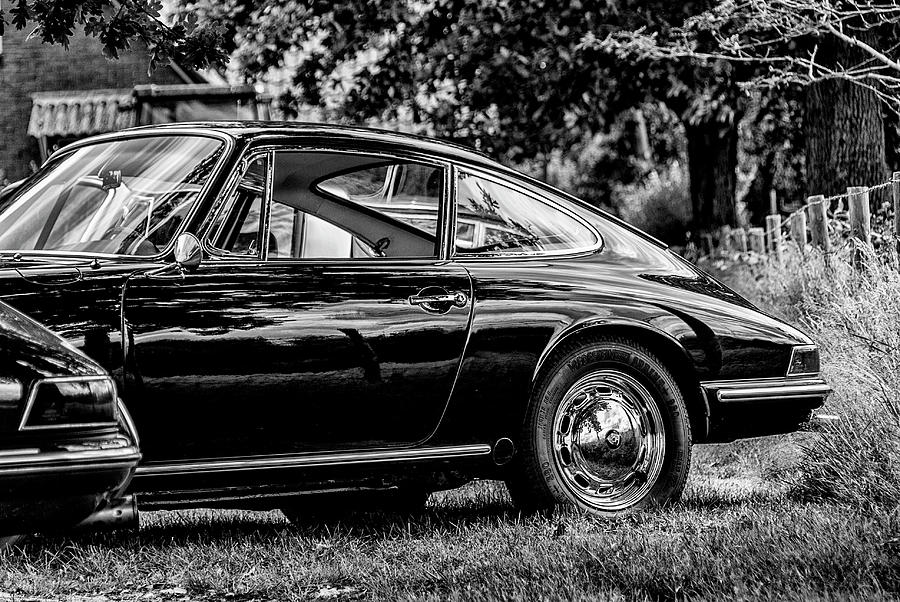 Beautiful Black Porsche 912 bw Photograph by 2bhappy4ever