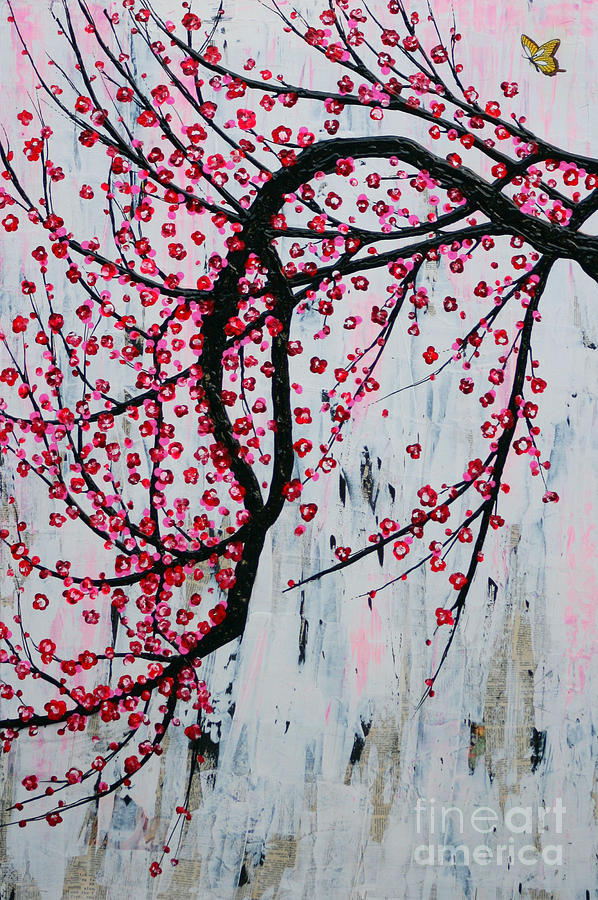 Butterfly Painting - Beautiful Blossoms by Natalie Briney