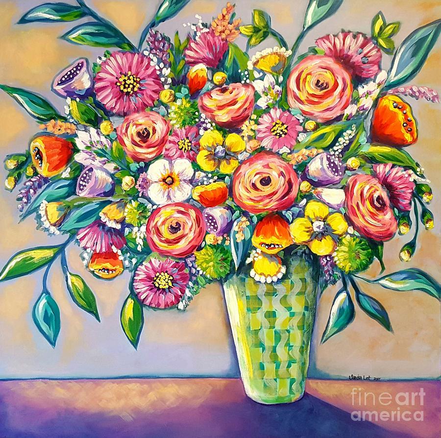 Bouquet Painting - Beautiful Bouquet by Sandra Lett