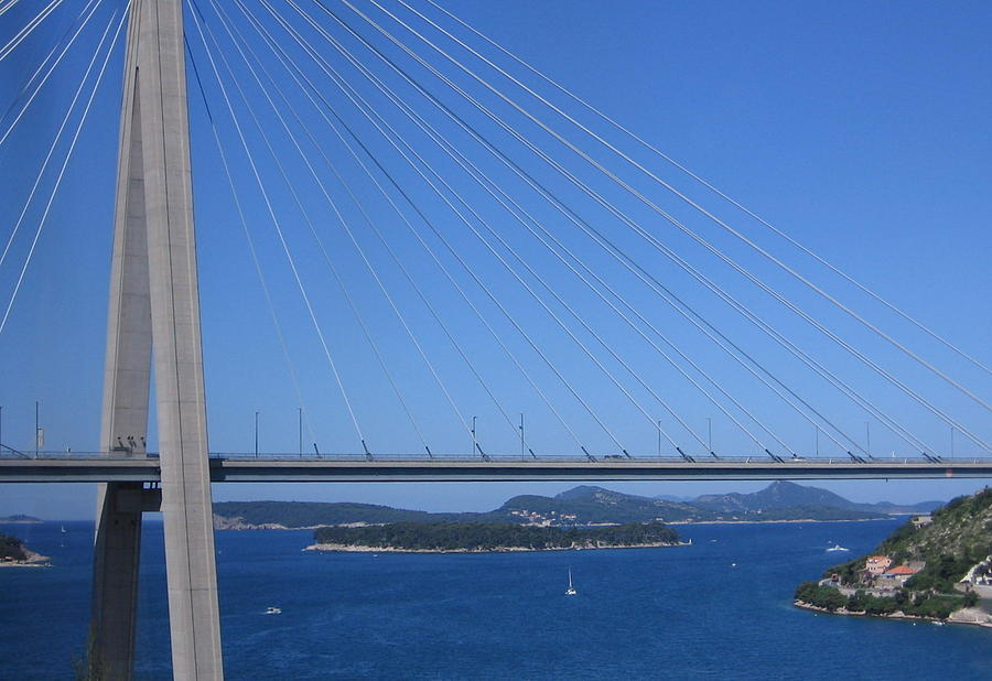 Beautiful Bridge In Dubrovnick by Karen J Shine