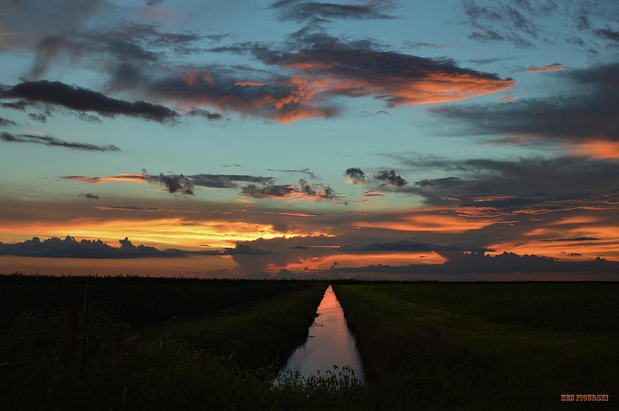 Delray Photograph - Beautiful Canal Sunset In Florida by Ken Figurski