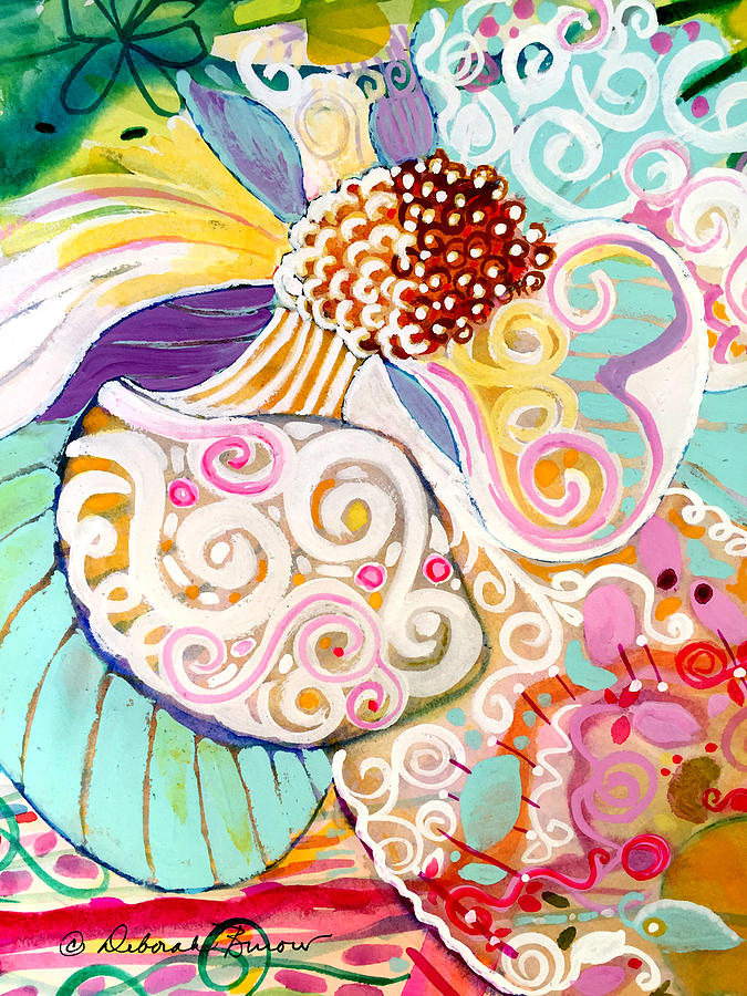 Magneta Painting - Beautiful Chaos Ten by Deborah Burow