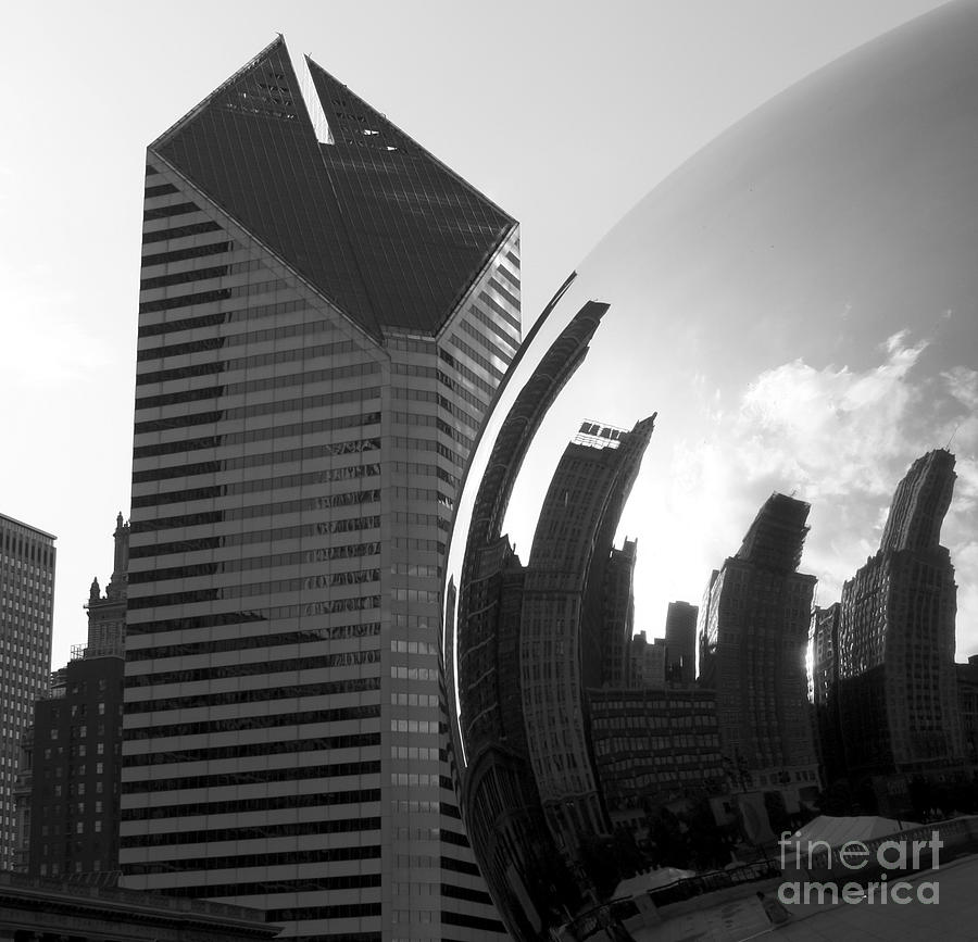 Black & White Photograph - Beautiful Chicago by Chris Litschka