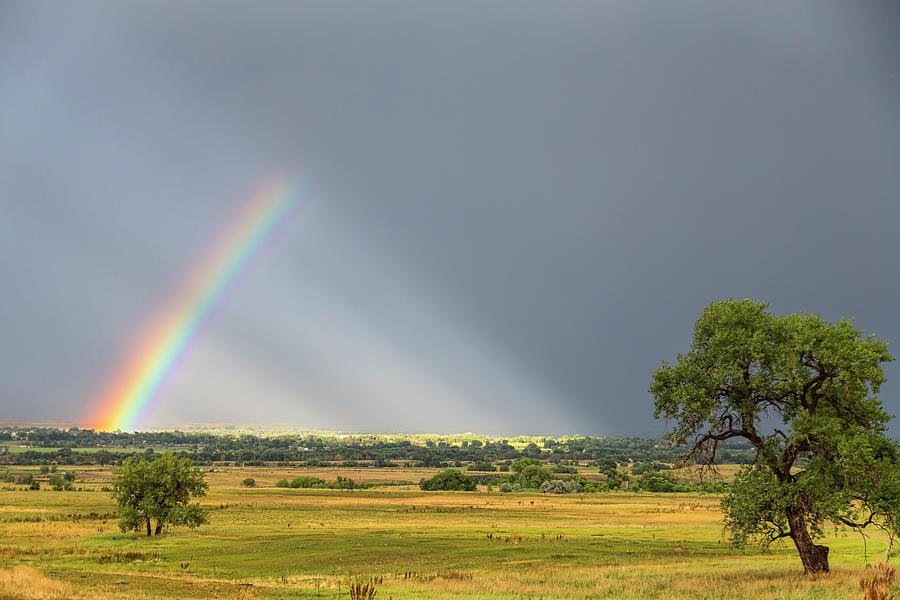 Beautiful Countryside Rainbow Photograph