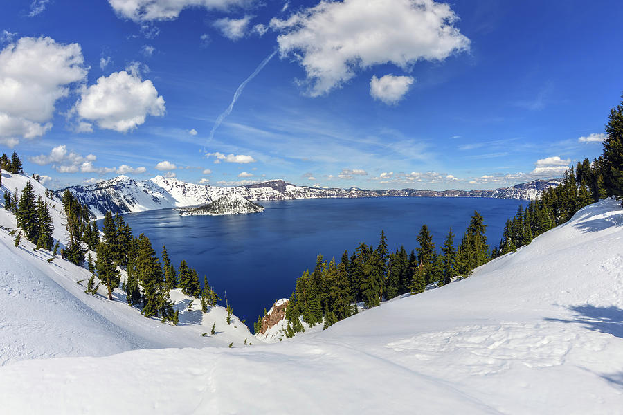 Beautiful Crater Lake by Mark Whitt