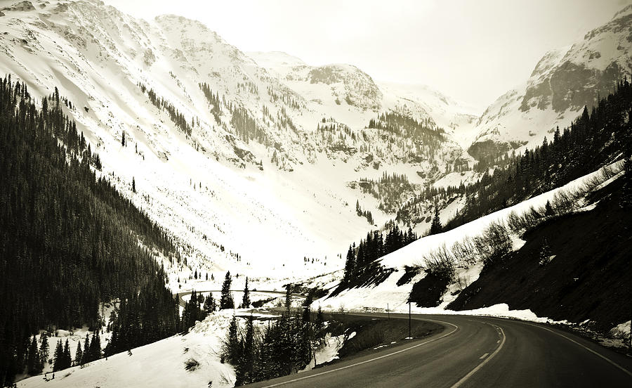 Mountains Photograph - Beautiful Curving Drive Through The Mountains by Marilyn Hunt