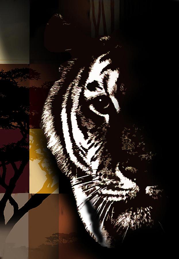Tiger Painting - Beautiful Danger by Joel Beckenhauer