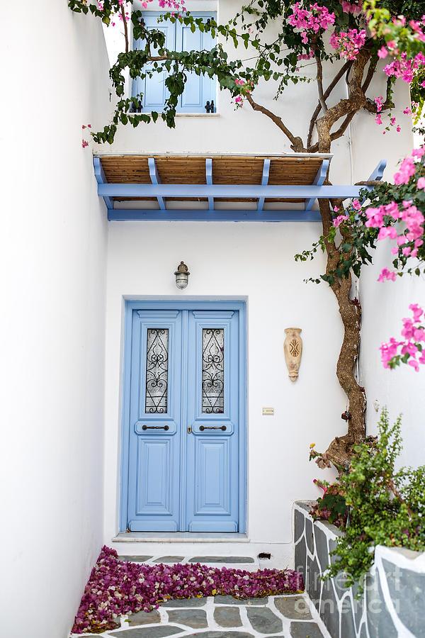Greece Photograph - beautiful door Paros by Konstantinos Noulis