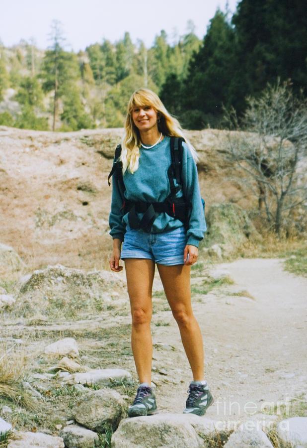 Beautiful Female Model Hiking Photograph