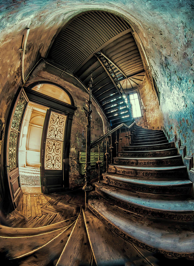 Staircase Photograph - Beautiful Forgotten Staircase by Jaroslaw Blaminsky