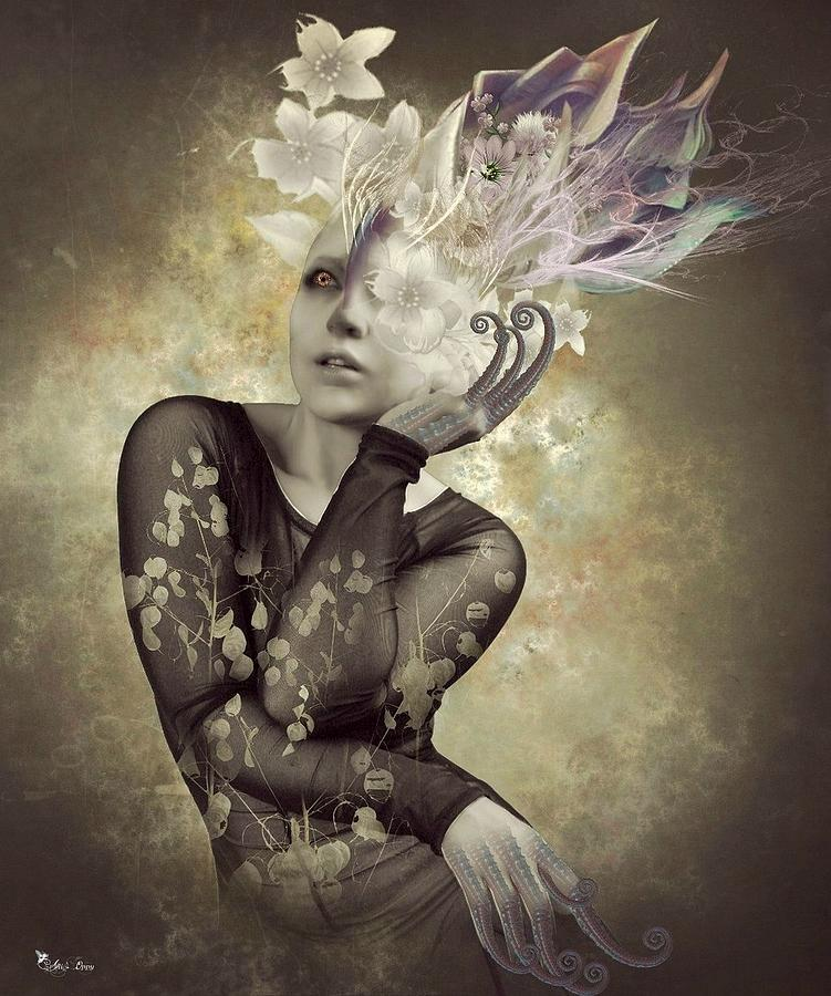 Sureal Digital Art - Beautiful Freak by Ali Oppy