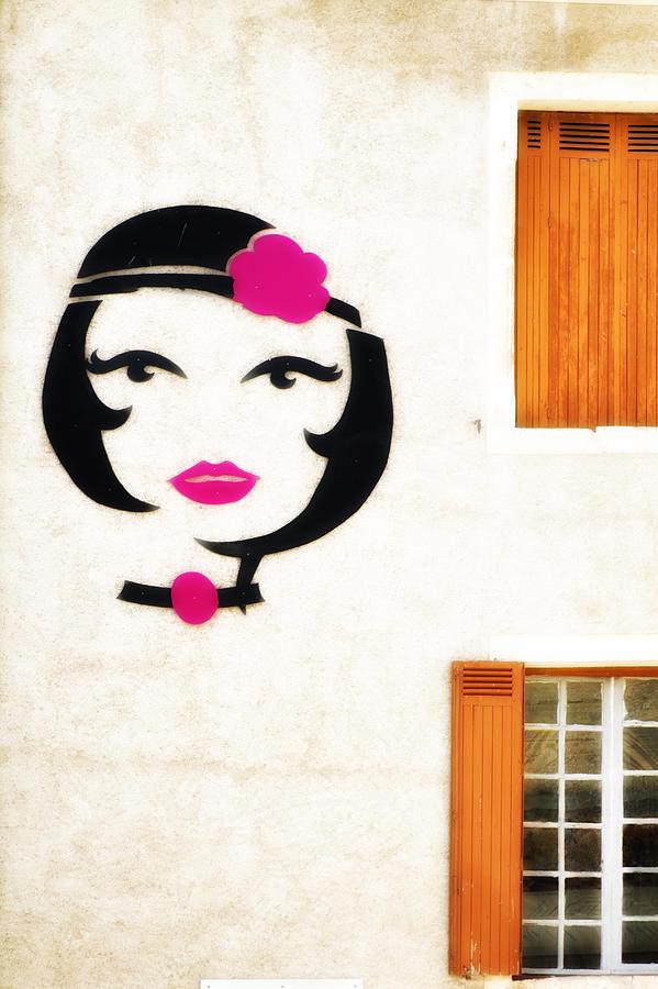 Beautiful Photograph - Beautiful French Woman Graffiti by Georgia Fowler