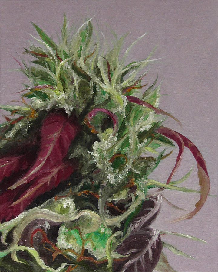 Cannabis Painting - Beautiful Girl by Cristin Paige