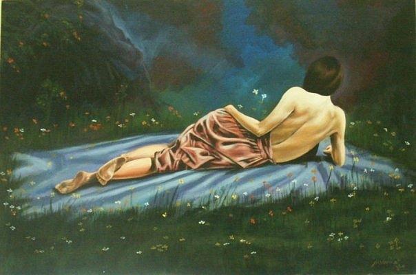 Beautiful Gril Painting - Beautiful Lady by Venkat Meruvu