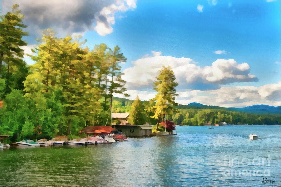 Lake Painting - Beautiful Lake George New York by Anne Kitzman