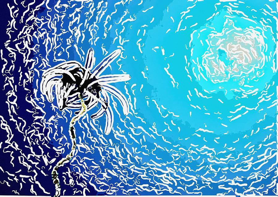 Starfish Painting - Beautiful Marine Plants 2 by Lanjee Chee