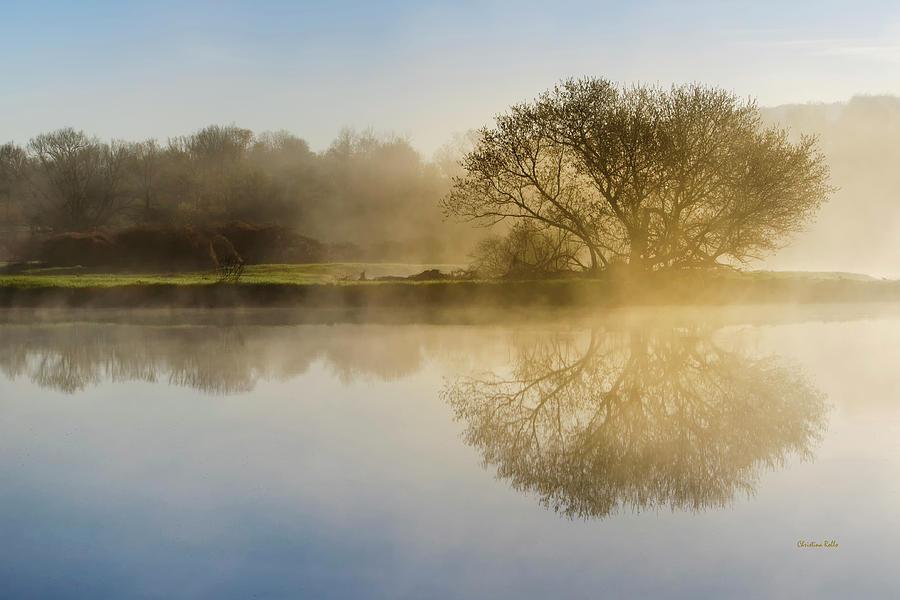 Sunrise Photograph - Beautiful Misty River Sunrise by Christina Rollo