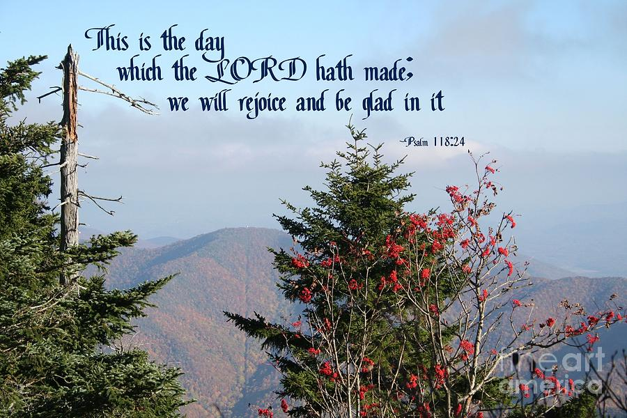Beautiful Mountains And Trees Of North Carolina With Bible