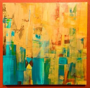 Abstract Expressionism Painting - Beautiful by Pamela Anderson