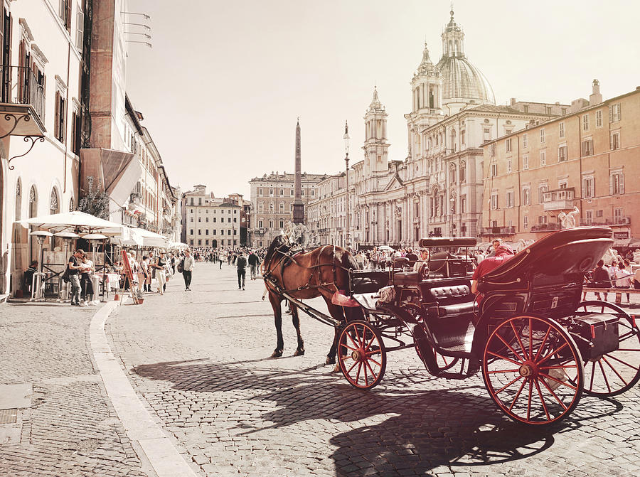 Architecture Photograph - Beautiful Piazza by Dressage Design