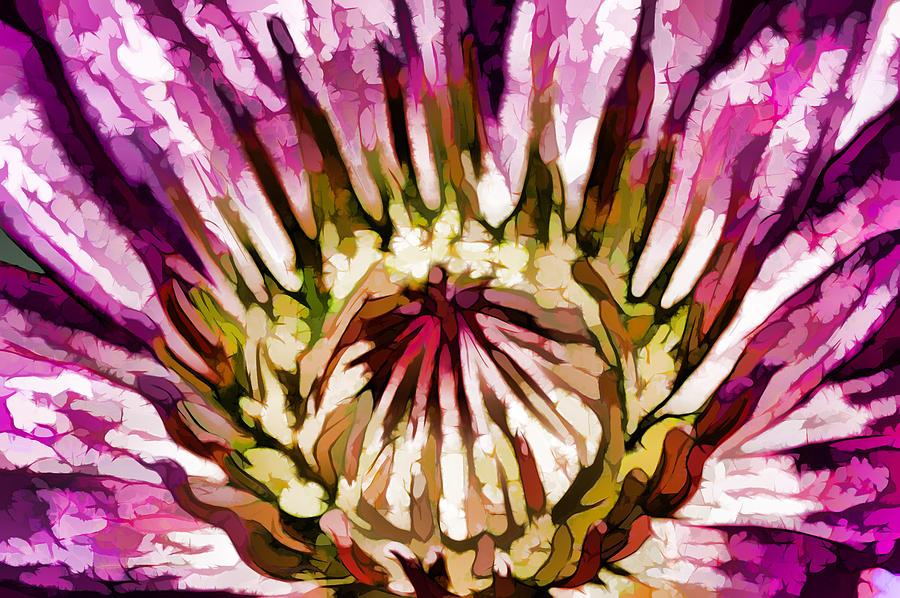 Beautiful Pink Lotus Flower Painting By Jeelan Clark