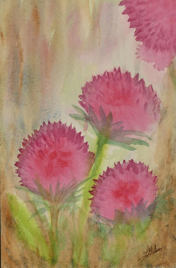 Floral Arrangements Painting - Beautiful Prickles by Lisa Gibson Art