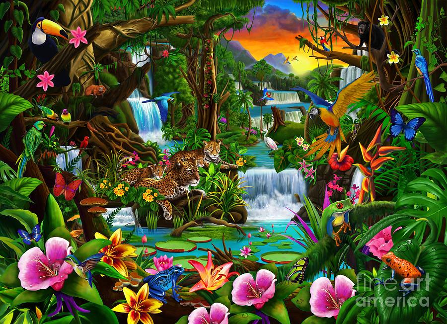 Beautiful Rainforest Digital Art By Gerald Newton
