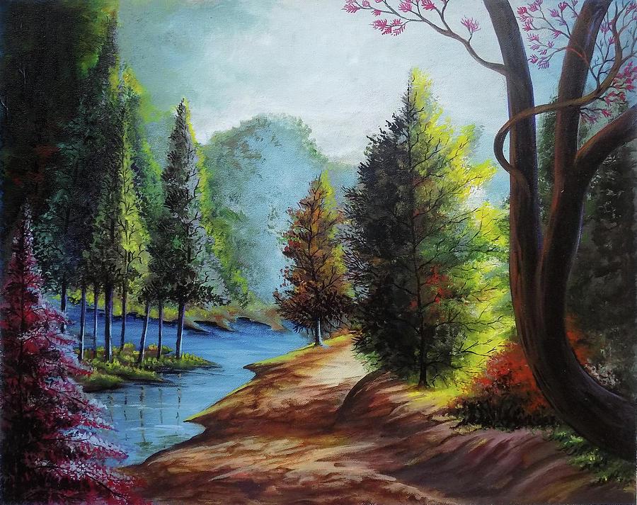 Beautiful Scenery 2 Drawing By Arun Sivaprasad