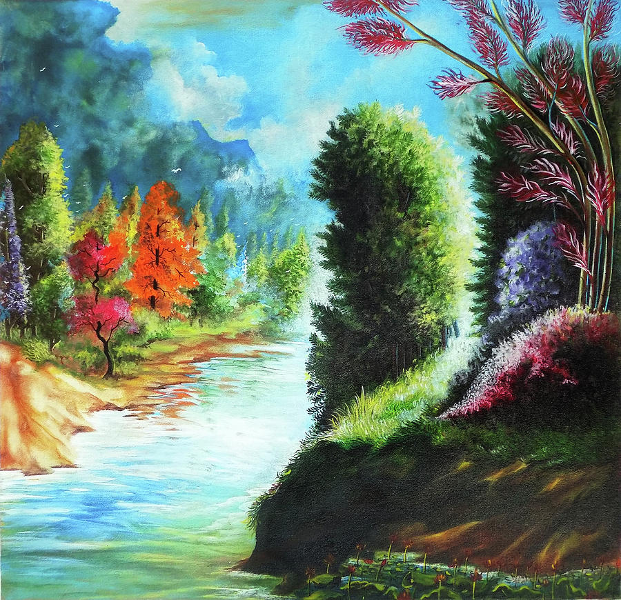 Beautiful Scenery Drawing By Asp Arts